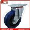 Elastic Rubber Swivel Caster with Blue Elastic Rubber Wheel