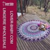 Mandala Round Tapestry Towel Round Blanket Purple Color (L38360-2)