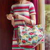Waterproof Canvas Open Closure Strap Lady Handbag (592987)