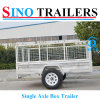 Australian 2 Wheels Single Axle Box Car Trailers
