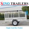 Australian 2 Wheels Single Axle Box Car Trailers