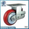 "6""Heavy Duty Single Springs PU Rigid Shockproof Caster Wheel"