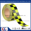 Fluorescent and Black Checkered Adhesive Reflective Safety Warning Tape (C3500-G)