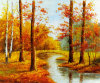 Autumn Landscape Canvas Oil Paintings for Hotel Decor