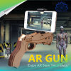 Wpste-Ar DIY Augmented Reality 3D Vr Game Bluetooth 4.0 Wooden Ar Gun Toys with Phone Holder