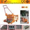 Germany Technology Qm4-45 Solid Mobile Concrete Hollow Block Machine Production Line
