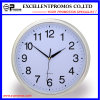Silver Frame Logo Printing Round Plastic Wall Clock (Item21)