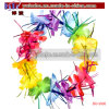 Hawaiian Luau Multicolour Lei Flower Tinsel Sparkle Promotional Items (BO-3006)