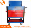 Mutifunctional Tool Cart with Gas Spring Open Top Cover/Sliding Drawers
