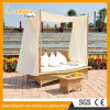 Stylish European Style Wicker Outdoor Leisure Furniture Sun Lounger Daybed
