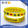 Customized Logo Color Filled Printed Silicone Wristband