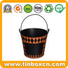 Tin Bucket for Easter Egg Hunt, Metal Tin Pail