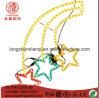 Ce RoHS Approved 3 Colored Shooting Star Rope LED Christmas Light for Wedding Party Decoration