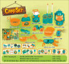 Boutique Playhouse Plastic Toy-Camping Set with 11 Accessories