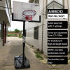 Household Home Portable Movable Basketball Stand with Adjustable Backboard Spring Ring