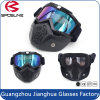Motorcycle Goggles Anti-Fog & Anti-Scratch Cycling Googles Dust Proof Bendable Eyewear with Padded Soft Foam