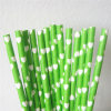 Green Color Heart Printing Paper Straws for Valentine′s Day