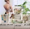 New-Style Animal Cushion Faux Linen Transfer Print Pillow (SPL-816)