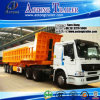 3 Axles 50ton Hyva Hydraulic Cylinder Sand Cargo Transport End Dump Truck Tipper Semi-Trailer Rear Tipping Trailer