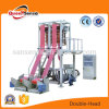 Two Head HDPE LDPE Plastic Film Making Machine