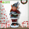 Factory Direct-Sale Resin Xmas Boy Christmas Ornament (NF14235-2)