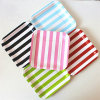 "Disposable Striped 9"" Square Paper Plates for Party"