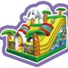 Cheer Amusement Jungle Themed Inflatable Slide Bouncers