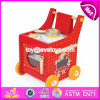 New Design Funny Push Cart Wooden Kids Cooking Set W10c259