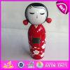 2015 Wholesale Fancy Kokeshi Wood Puppet Doll, Famous Custom Wooden Puppet Doll, Wooden Japanese Puppet Doll Kimono Dolls W06D073
