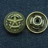 Custom Star Brass Denim Buttons for Clothing