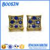 Custom Girls′ Golden Crystal Stud Earrings for Wholesale
