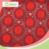 Bright Red Color Dress Making Tulle Lace Fabric