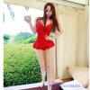 Korean Sexy Backless Frilly Pure Color One-Piece Swimsuit