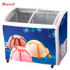 Ice Cream Showcase Display Refrigerator Glass Slide Top Freezers