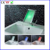 Rectangle Panel Spout Waterfall Self-Power LED Basin Faucet (FD15060F)