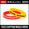 Emboss Printed Custom Silicone Wristbands