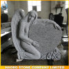 Angel and Heart Model Headstone Round Sculpture