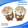 T51 127mm Threaded Retract Button Bit