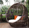 Leisure Style Wicker Sofa Bed Double Seat PE Rattan Sun Lounge