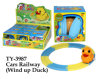 Funny Cars Railway with Wind up Duck Toy