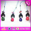 2015 Mini Colorful Wooden Kimono Doll with Pendant, Hand-Painted Wooden Puppet Doll Pendants, Hot Sale Janpanese Girl Doll W06D076