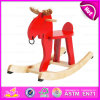 New Kids Wooden Rocking Horse, Popular Rocking Horse Wooden Decorative, High Quality Wooden Outdoor Rocking Horse W16D062