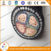 3 Core Soft Copper Conductors PVC Insulated Steel Wire Armoured PVC Sheathed 1, 9 / 3, 3 Kv Sans Standard Cable SABS Standard