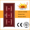Home Antique Design Complicated Carving Wooden Door (SC-W014)