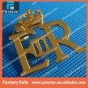 Factory Wholesale Hollow Letter Er with Crown Custom Lapel Pin Badge