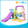 Plastic Slide Play Sets, Kindergarten Furniture Indoor Kids Plastic Toy, Slide with Basketball Hoop
