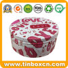 Round Rouge and Blusher Gift Tin Box for Cosmetics