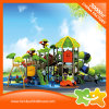 Double Deck Outdoor Children Place Playgeound Equipment Tube Slide with Swings