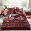 Microfiber 4 Piece Bohemian Ethnic Style Bedding Sets Boho Duvet Cover Set