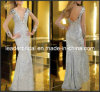 Silver Sequins Evening Dress Full Tulle Sheath Party Prom Dressese29681